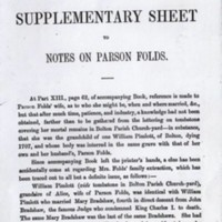 Notes on Parson Fold
