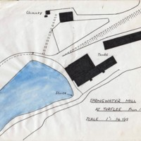 Hand drawn map  : Springwater Mill at Turflee