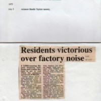 Two Reports of Disputes with Industry by Local Residents : 1875 & 1995