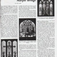 "Magazine article : ""Stained glass at Marple Bridge""  : 1954"
