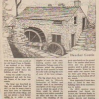 Spade Mill : Newspaper Cuttings : 1827 - 2000