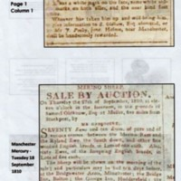 Miscellaneous Newspaper Reports : 1808-11  & 1851