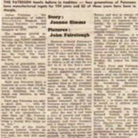 Park & Paterson (Metal Works) Newspaper cuttings : 1961 - 2007